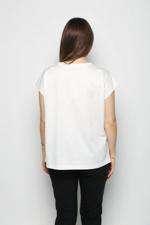 Leur Logette Leur Logette Trompe -I'Cell Sleeveless Top, Off White Tops