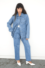Chore Coat in Denim, Indigo, Jackets + Coats, Lorod, Mona Moore
