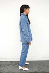Lorod Chore Coat in Denim, Indigo Jackets + Coats