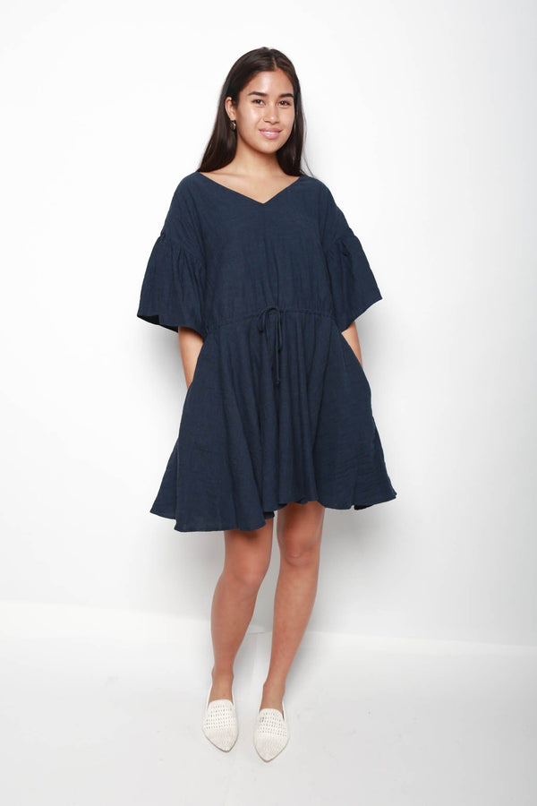 Merlette Tuileries Dress, Indigo Dresses