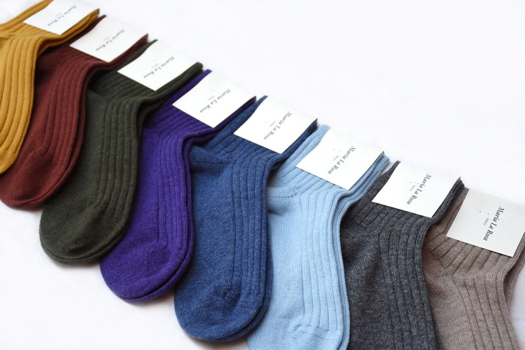Cashmere Ribbed Ankle Socks