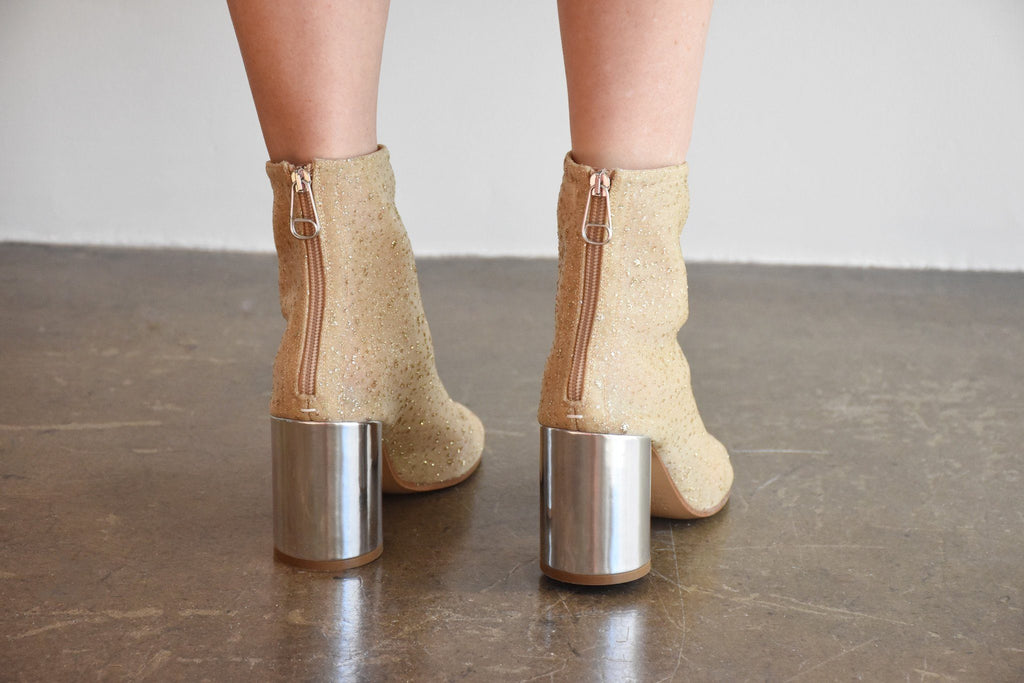 Poly Mesh Sock Boot, Gold