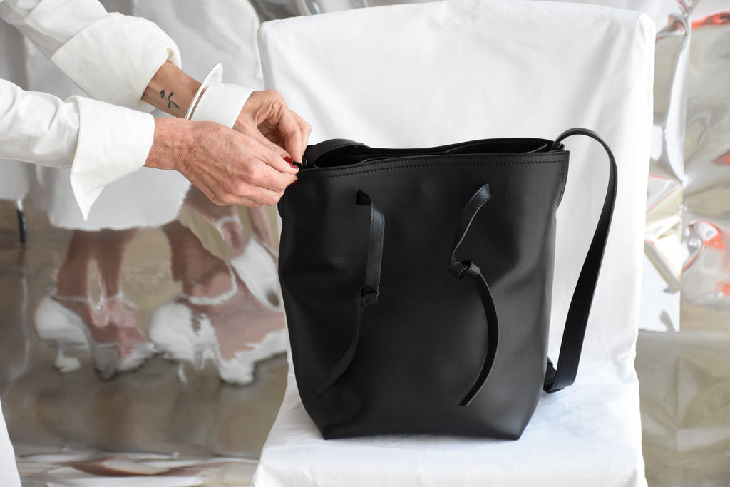 Bucket Shoulder Bag, Black