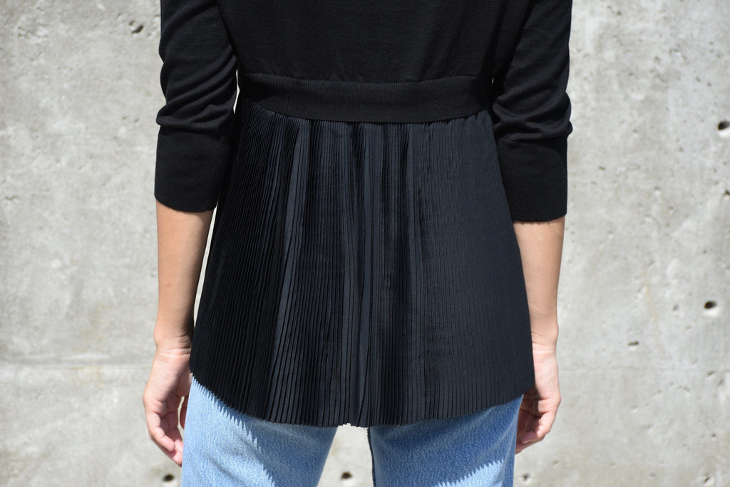 V Neck Sweater, Black
