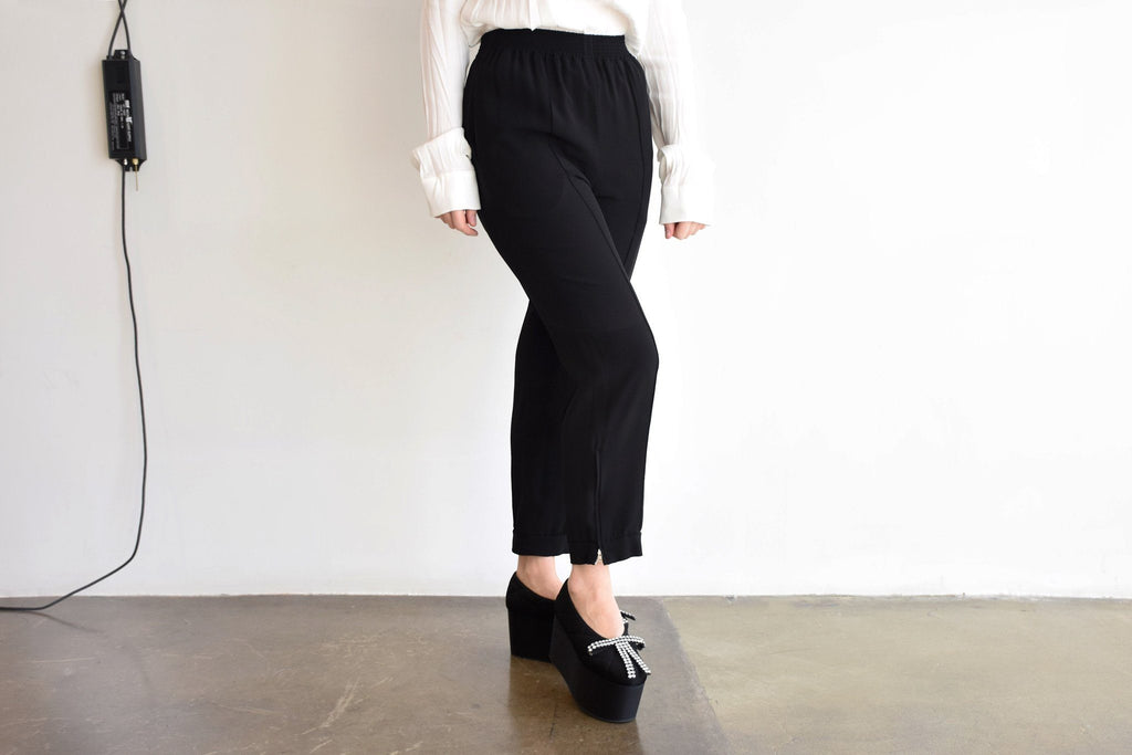 Cropped Trousers, Black