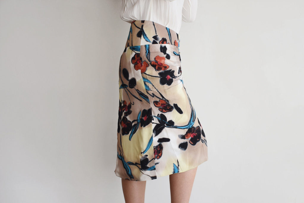 Skirt, Lucid Print Pale Gold