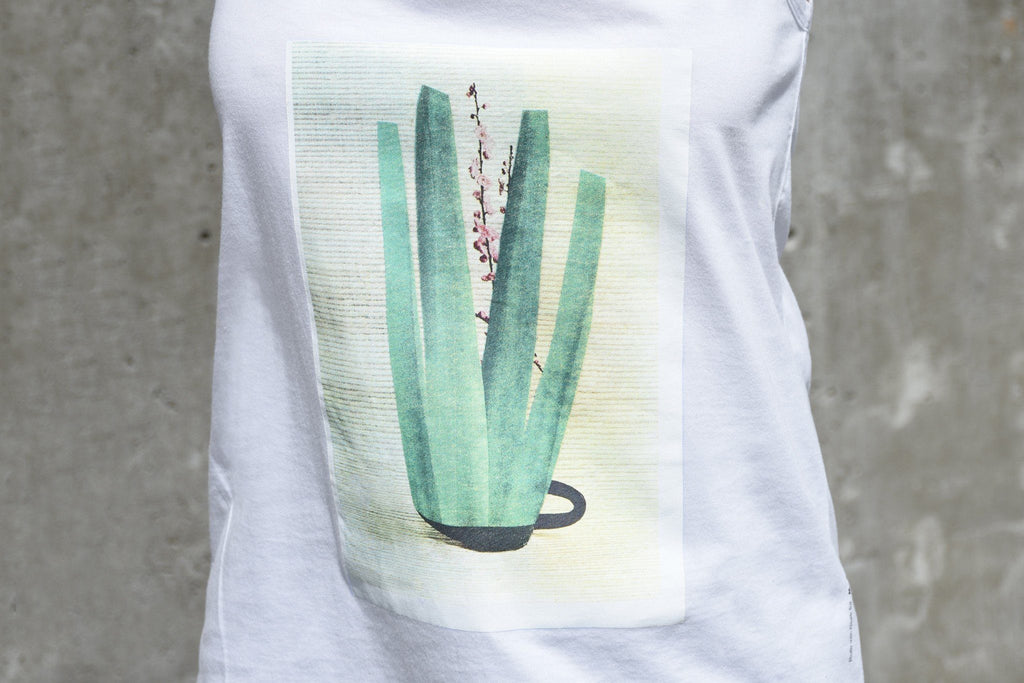 Tank Top, White + Sea Green