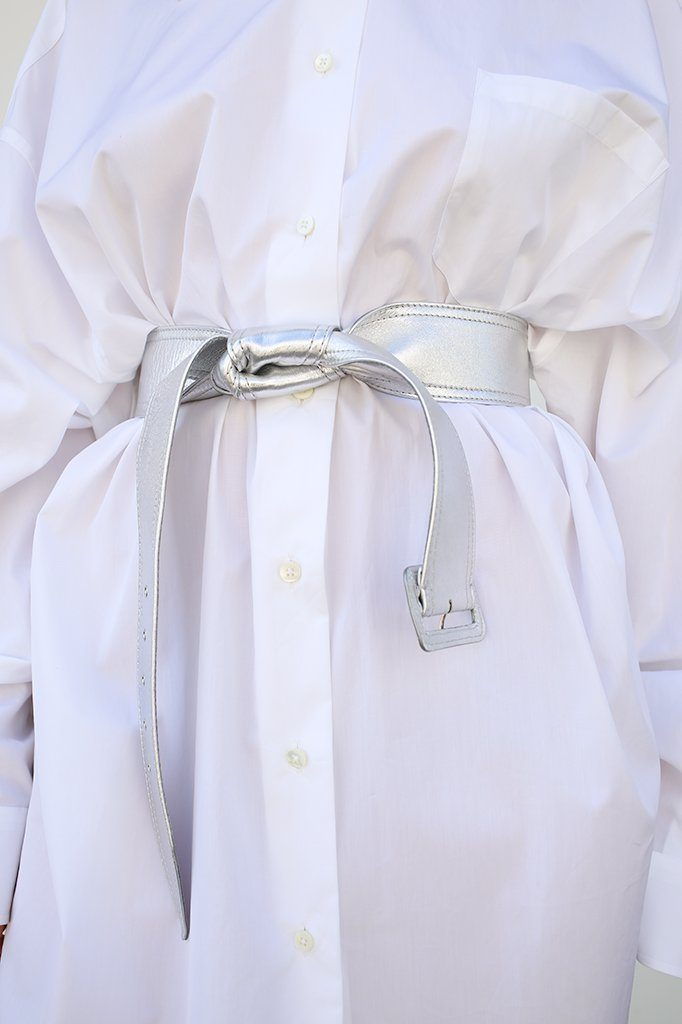 Knotted Belt, Silver, Accessories, Maison Margiela, Mona Moore