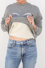 Melange Fleece Sweatshirt, Melange Grey