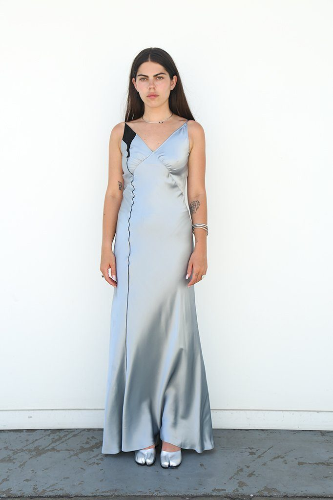 Satin Sleeveless Dress, Nile's Water