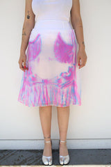 Maison Margiela Techno Organza Skirt, Fluo Pink + Fluo Blue Bottoms