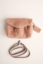 Mini Punta Bag, Blush Suede