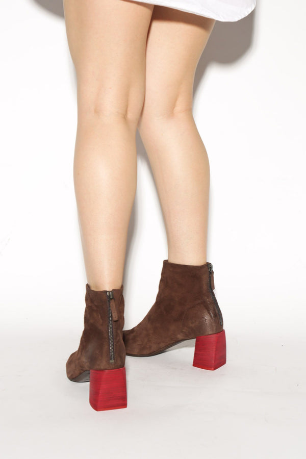 Marsell Tronchetto Ankle Boot, Brown Suede Boots