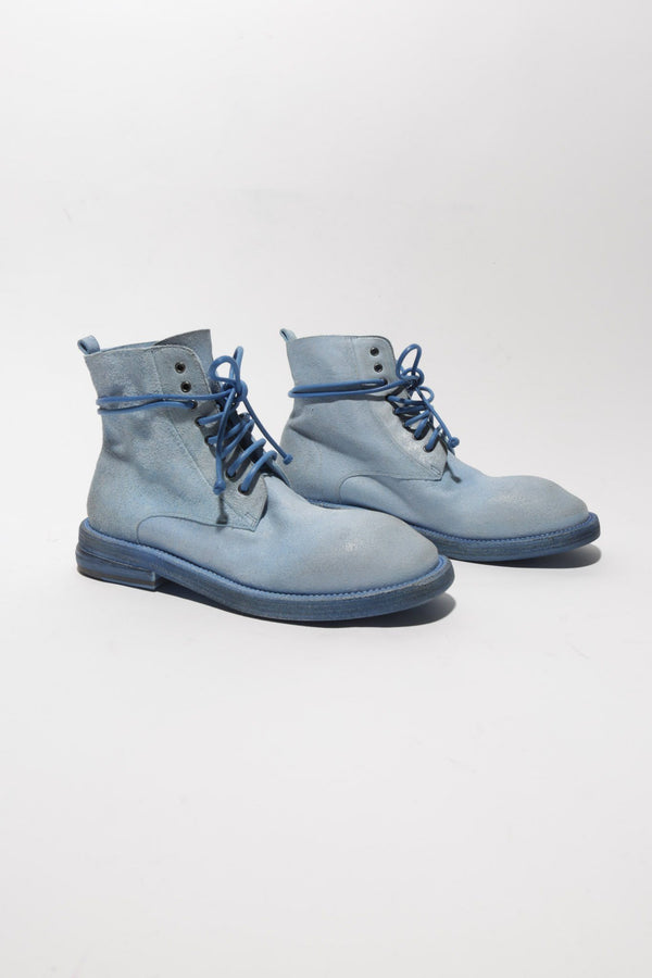 Marsell Dodone Lace Up Boots, Sky Blue Boots
