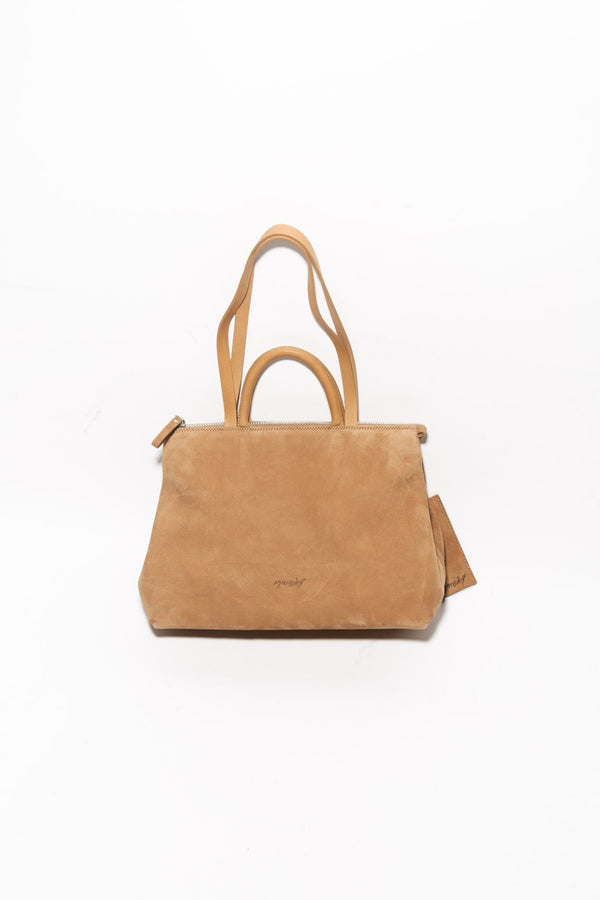 Marsell Dritta Bag, Chestnut Suede Bags