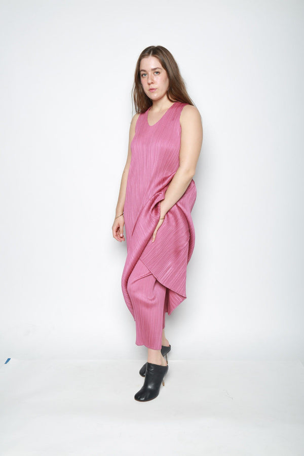 Issey Miyake May Sleeveless Pleated Dress, Rose Pink Dresses + Jumpsuits