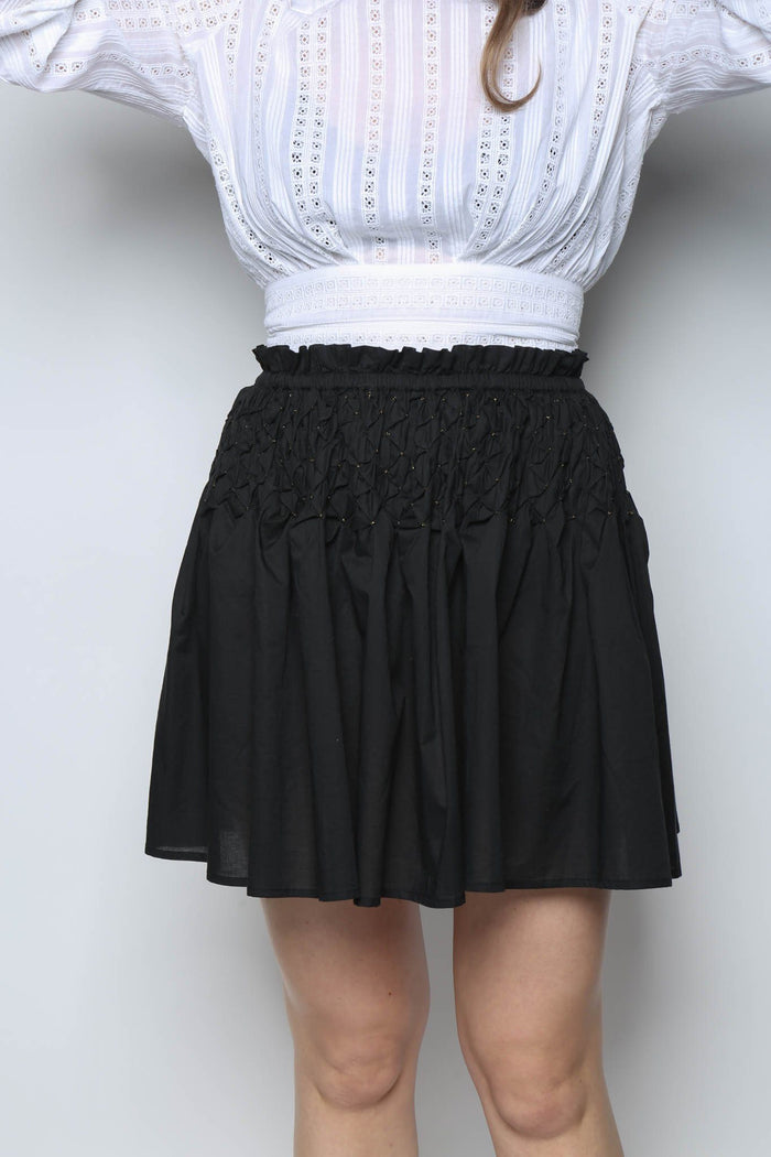 Merlette Eden Skirt, Black + Gold Bottoms
