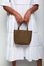 The Row Mini Park Tote Bag, Dark Khaki Bags