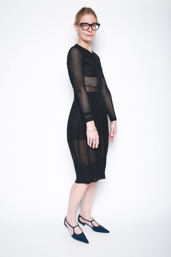 Molly Goddard Carmen Mesh Dress, Black Dresses + Jumpsuits