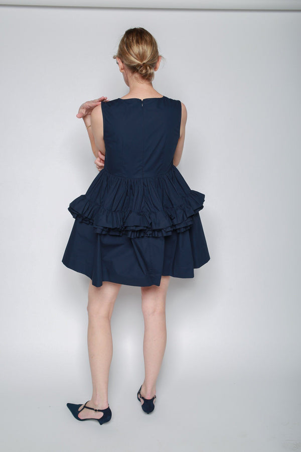 Molly Goddard Izzy Mini Dress, Navy Dresses + Jumpsuits