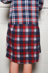 Flannel Shirt Ribbon Dress, Assorted, Tops, Needles, Mona Moore
