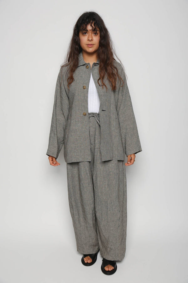Needles Needles D/S Jacket Linen Cloth, Houndstooth Coats + Jackets