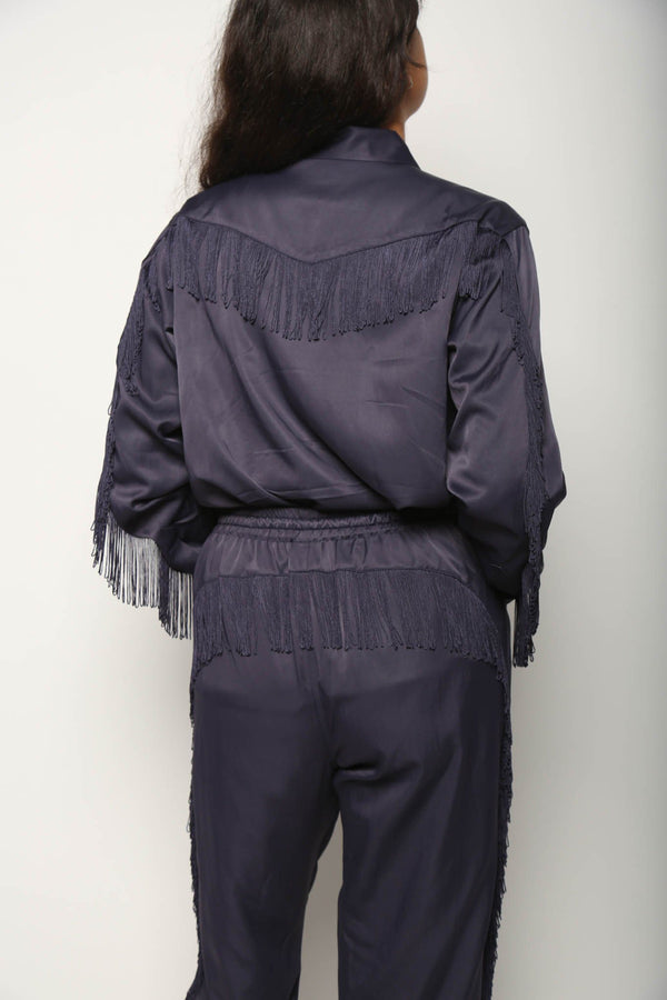 Needles Needles Fringe Cowboy Shirt R/C Twill, Purple Tops