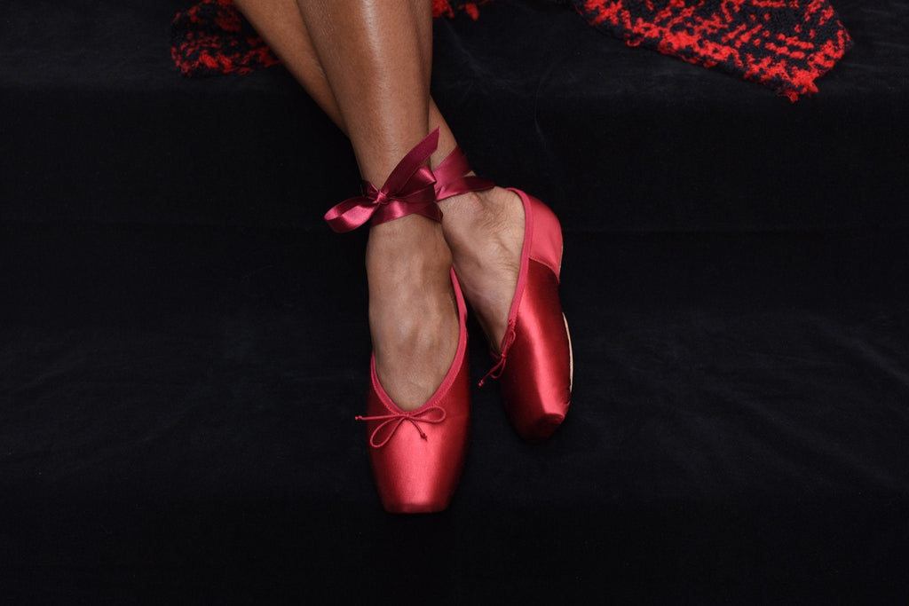 Last Pair 37 Preston Pointe Shoes, Rouge Satin