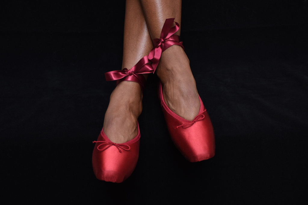 Preston Pointe Shoes, Rouge Satin