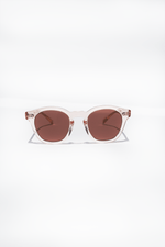 Boudreau L.A., Light Silk + Burgundy Gold Mirror, Sunglasses, Oliver Peoples, Mona Moore