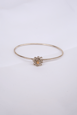 Paloma Picasso Daisy Bangle, Sterling Silver with Gold Center