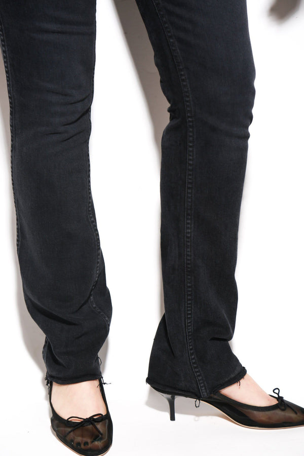 RE/DONE Double Needle High-Rise Jeans, Black Bottoms