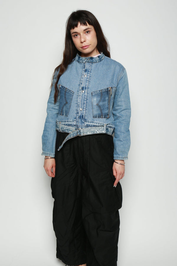RE/DONE RE/DONE UPSIDE DOWN BOMBER, Indigo Coats + Jackets
