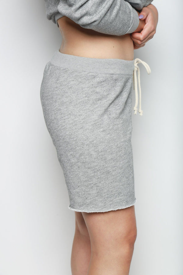 RE/DONE 70s Drawstring Short, Heather Grey Bottoms