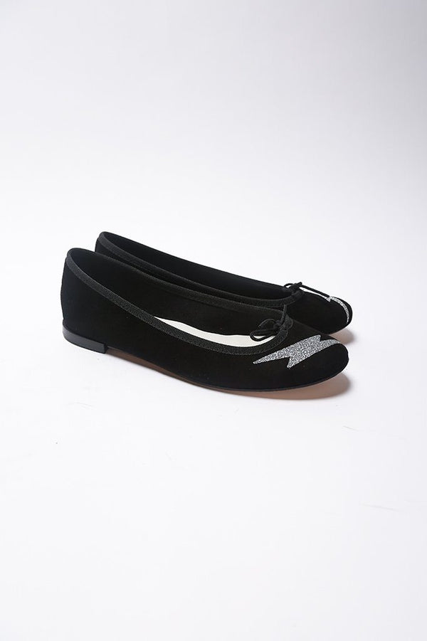 Repetto Cendrillon Ballerina With Flash, Black Flats