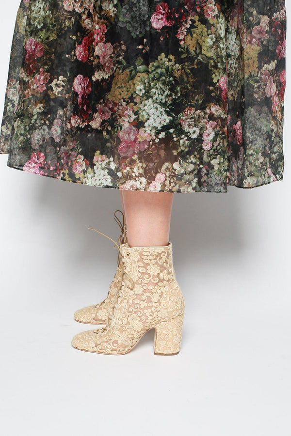 Laurence Dacade Milly Mesh Crochet Boots, Natural Boots