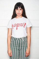 Classic Tee with Equal Graphic, Vintage White, Tops, RE/DONE, Mona Moore