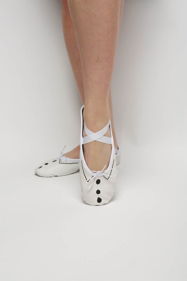Repetto Demi Pointe x Sia Ballet Dance Shoe, White + Black Flats