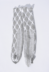 Antipast Fuzzy Knitted Socks, Available in Two Color Options Hosiery Light Grey