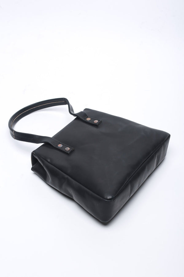 Cherevichkiotvichki Small Lock Bag with Single Handle, Black Bags