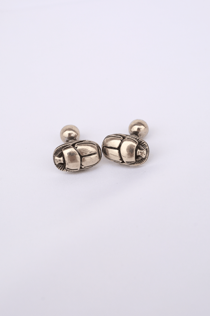 Scarab Cuff Links, Silver
