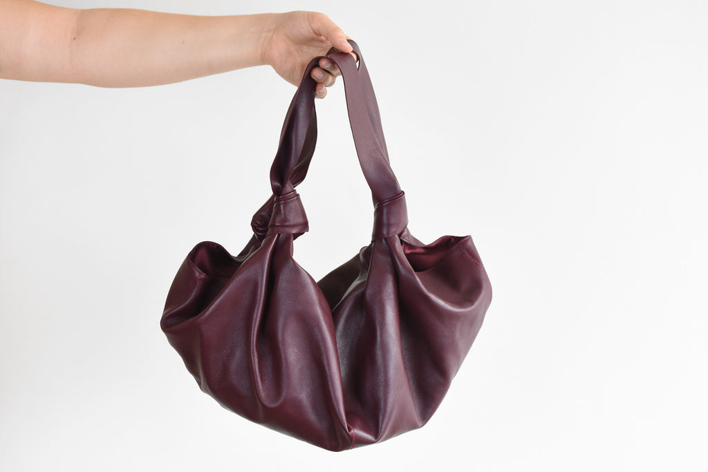 Medium Ascot Bag, Burgundy