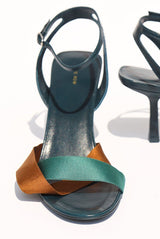 The Row Ribbons Heel, Emerald Heels