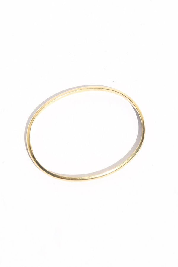 Vintage Tiffany & Co. Hollow Oval Bangle, 18K Yellow Gold jewelry