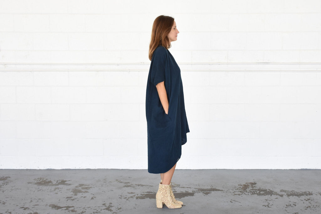 Ruana Dress, Dark Indigo
