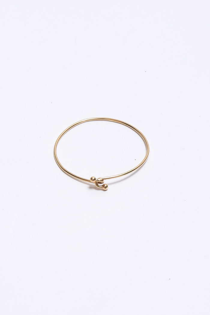 Vintage Tiffany & Co. Double Hook Bangle Bracelet, 14k Gold Jewelry