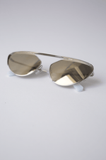 Alain Mikli Nadege Sunglasses in Silver Luxury Eyewear Designer Fashion Mona Moore