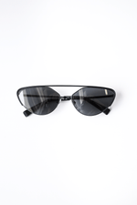 Alain Mikli Nadege Sunglasses in Matte Black Luxury Eyewear Designer Fashion Mona Moore