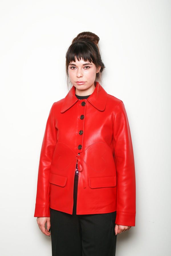 Alexa Chung Heart Detail Jacket, Red Tops