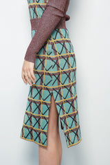 Knit Pencil Skirt, Multicolor